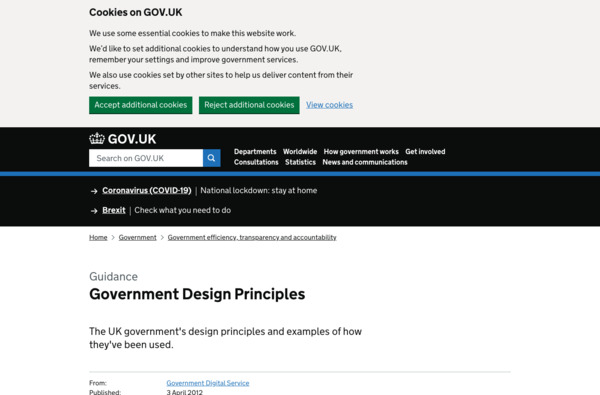 Government Design Principles
